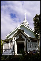 Saint Benedict Catholic Church called Painted Church, Captain Cook. Big Island, Hawaii, USA (color)