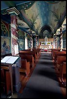 Interior of Saint Benedict Catholic Church called Painted Church. Big Island, Hawaii, USA ( color)