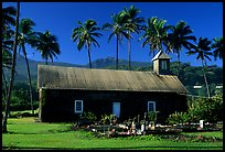 Ihiihio Iehowa o na Kaua Church, Keanae Peninsula. Maui, Hawaii, USA (color)