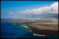 Aerial view of Kona Coast. Big Island, Hawaii, USA ( color)
