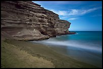 Papakolea Beach and cliff. Big Island, Hawaii, USA ( color)