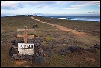 Burial site near South Point. Big Island, Hawaii, USA ( color)