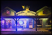 Most southern bar in the USA at night. Big Island, Hawaii, USA ( color)