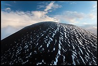 Cinder cone near summit, sunset. Mauna Kea, Big Island, Hawaii, USA (color)
