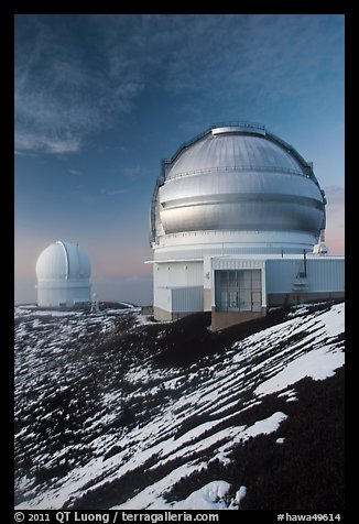 Gemini Northern Telescope and Canada-France Telescope. Mauna Kea, Big Island, Hawaii, USA