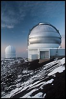 Gemini Northern Telescope and Canada-France Telescope. Mauna Kea, Big Island, Hawaii, USA (color)