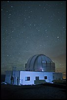 United Kingdom Infrared Telescope and stars. Mauna Kea, Big Island, Hawaii, USA (color)