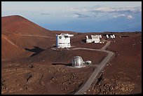 Caltech Submillimeter Telescope, James Clerk Maxwell Telescope, and submillimeter Array. Mauna Kea, Big Island, Hawaii, USA (color)