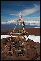 Altar on the summit. Mauna Kea, Big Island, Hawaii, USA