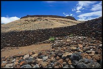 Mailekini Heaiu and Puukohola Heiau, Puukohola Heiau National Historic Site. Big Island, Hawaii, USA ( color)