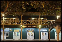 Pioneer Inn facade at night. Lahaina, Maui, Hawaii, USA (color)