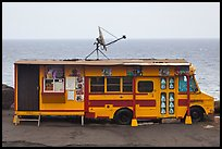 Reconverted school bus, Kahakuloa. Maui, Hawaii, USA (color)