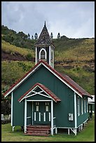 Green church, Kahakuloa. Maui, Hawaii, USA ( color)