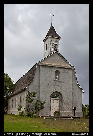 St Joseph church, Kaupo. Maui, Hawaii, USA (color)