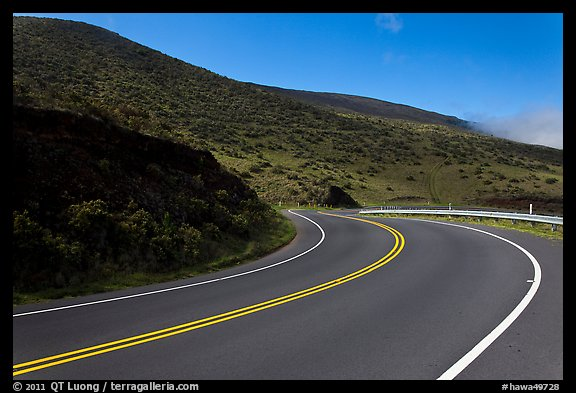 Winding Haleakala road. Maui, Hawaii, USA