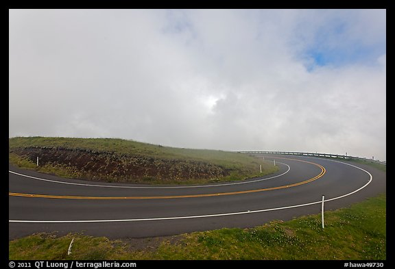 Hairpin curve. Maui, Hawaii, USA (color)