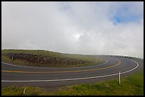 Hairpin curve. Maui, Hawaii, USA ( color)