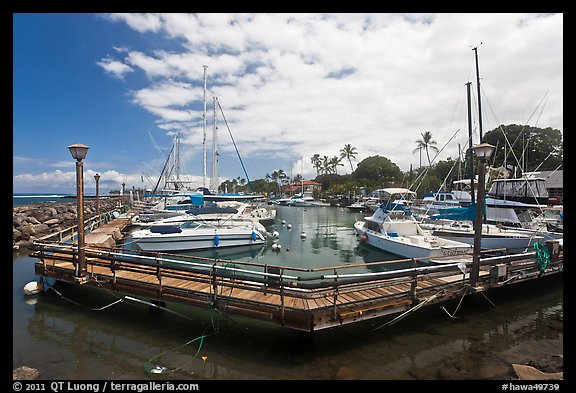Lahaina harbor. Lahaina, Maui, Hawaii, USA (color)