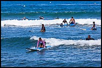 Group of surfers. Lahaina, Maui, Hawaii, USA (color)