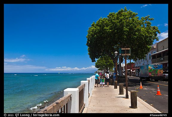 Waterfront promenade. Lahaina, Maui, Hawaii, USA (color)