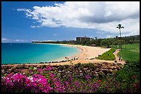 Beach and golf course, Kaanapali. Lahaina, Maui, Hawaii, USA ( color)