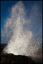 Spouting Horn spurting water 50 feet into the air. Kauai island, Hawaii, USA