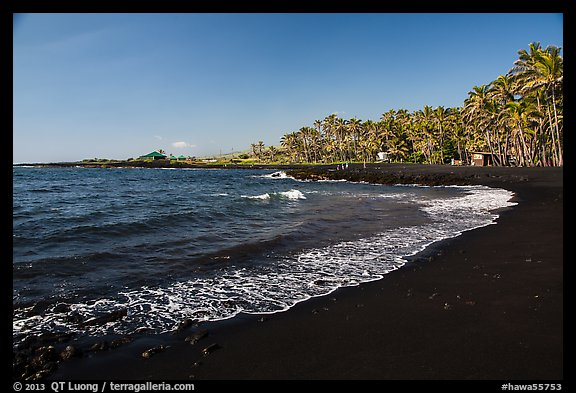 Picture photo punaluu black sand beach big island Black sand beach hawaii