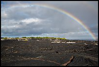 Rainbow over lava fields, Kalapana. Big Island, Hawaii, USA ( color)