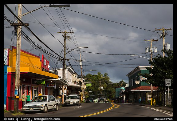Street, Pahoa. Big Island, Hawaii, USA (color)