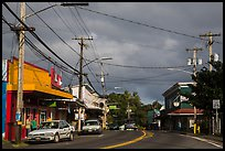 Street, Pahoa. Big Island, Hawaii, USA ( color)