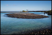 Volcanic rocks islet, Kiholo Bay. Big Island, Hawaii, USA (color)