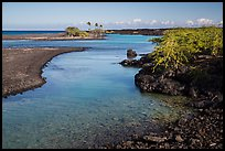 Clear water in channel, Kiholo Bay. Big Island, Hawaii, USA (color)