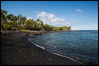 Black sand beach, Kiholo Bay. Big Island, Hawaii, USA ( color)