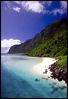 Olosega Island seen from the Asaga Strait. American Samoa ( color)