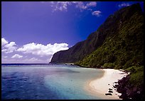 Olosega Island seen from the Asaga Strait. American Samoa (color)