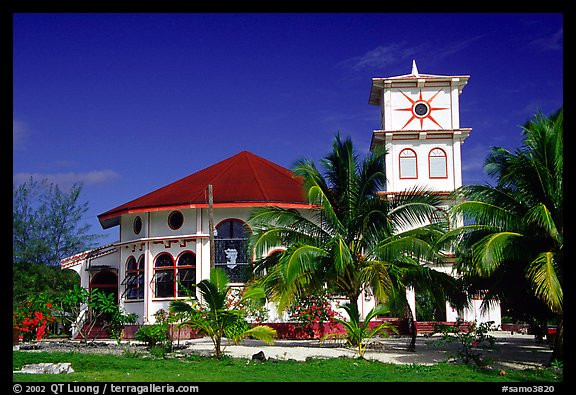 Church of Luma. American Samoa (color)