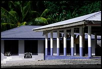 Home and fale in Luma. American Samoa (color)