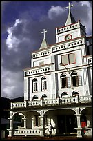 The main church in Leone, the first chuch on American Samoa. Tutuila, American Samoa (color)