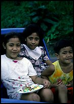 Children in a truck bed. Pago Pago, Tutuila, American Samoa ( color)
