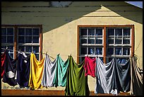 Laundry drying on clotheline in Tula. Tutuila, American Samoa ( color)