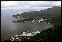 Pago Pago harbor seen from Mount Alava. Pago Pago, Tutuila, American Samoa (color)