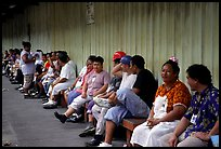 Workers of the tuna factory during a break. Pago Pago, Tutuila, American Samoa (color)