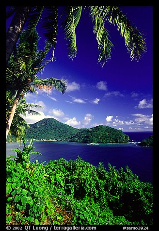 View over Masefau Bay. Tutuila, American Samoa (color)