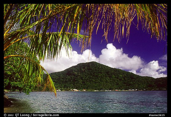 Masefau Bay and Village. Tutuila, American Samoa (color)