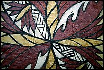 Siapo (bark cloth made from the inner bark of the paper mulberry tree) artwork. Pago Pago, Tutuila, American Samoa