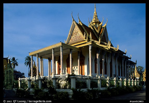 Silver Pagoda, Royal palace. Phnom Penh, Cambodia (color)