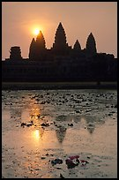Sunrise, Angkor Wat. Angkor, Cambodia (color)