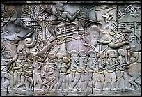 Bas reliefs, the Bayon. Angkor, Cambodia ( color)