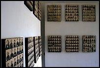 Pictures of executed prisoners, Tuol Sleng Genocide Museum. Phnom Penh, Cambodia (color)