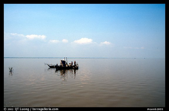 Immensity of the Tonle Sap. Cambodia (color)